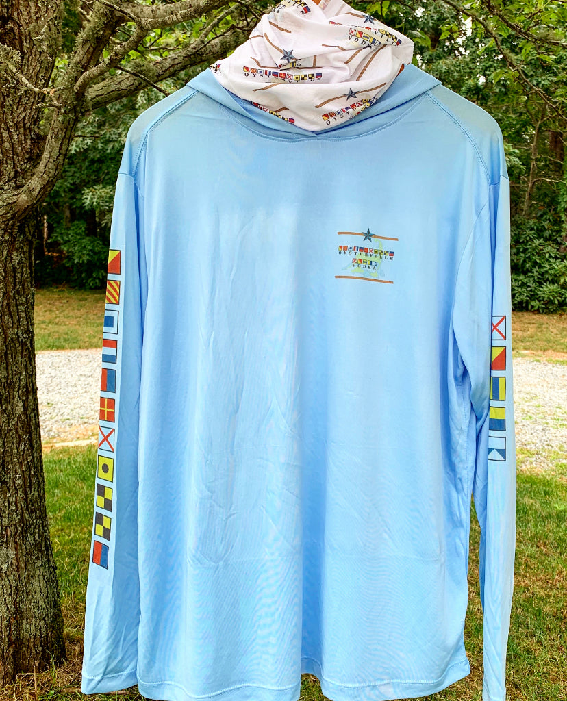 Ouray Light Blue Oysterville Sun Protection UPF 30+ Hoodie