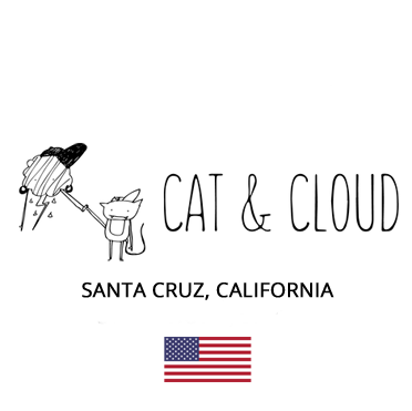 Cat and Cloud Speciality Coffee Santa Cruz, California, USA