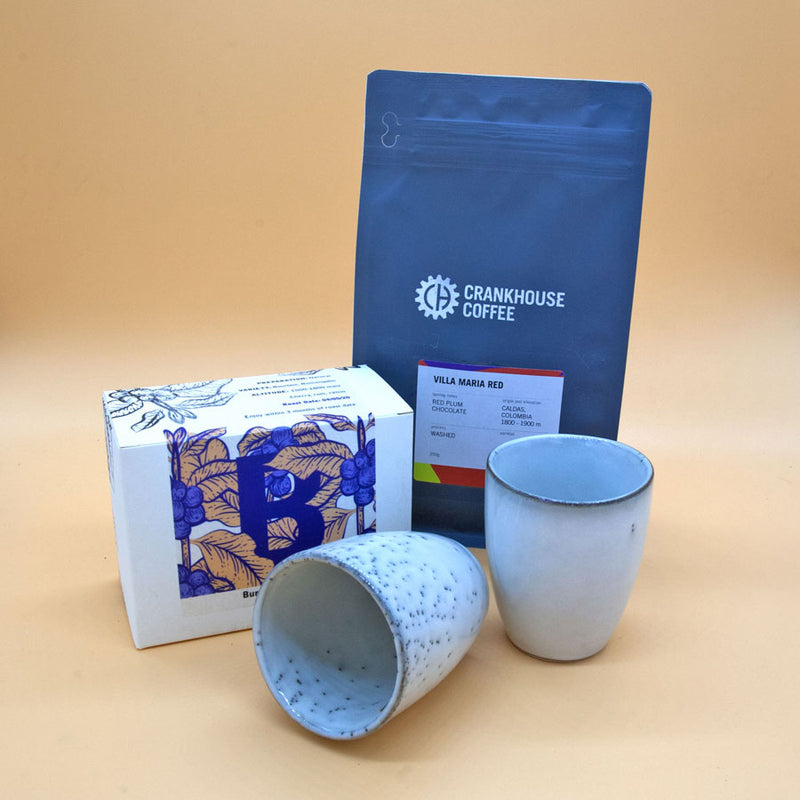 The place for coffee gifts on the UK best coffee subscription service.  Speciality coffee and handmade cups