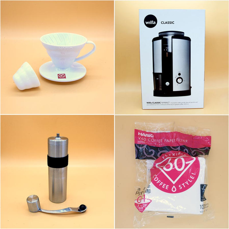 Coffee Brew Kit Filters Hario Aeropress Wilfa Rhinowares