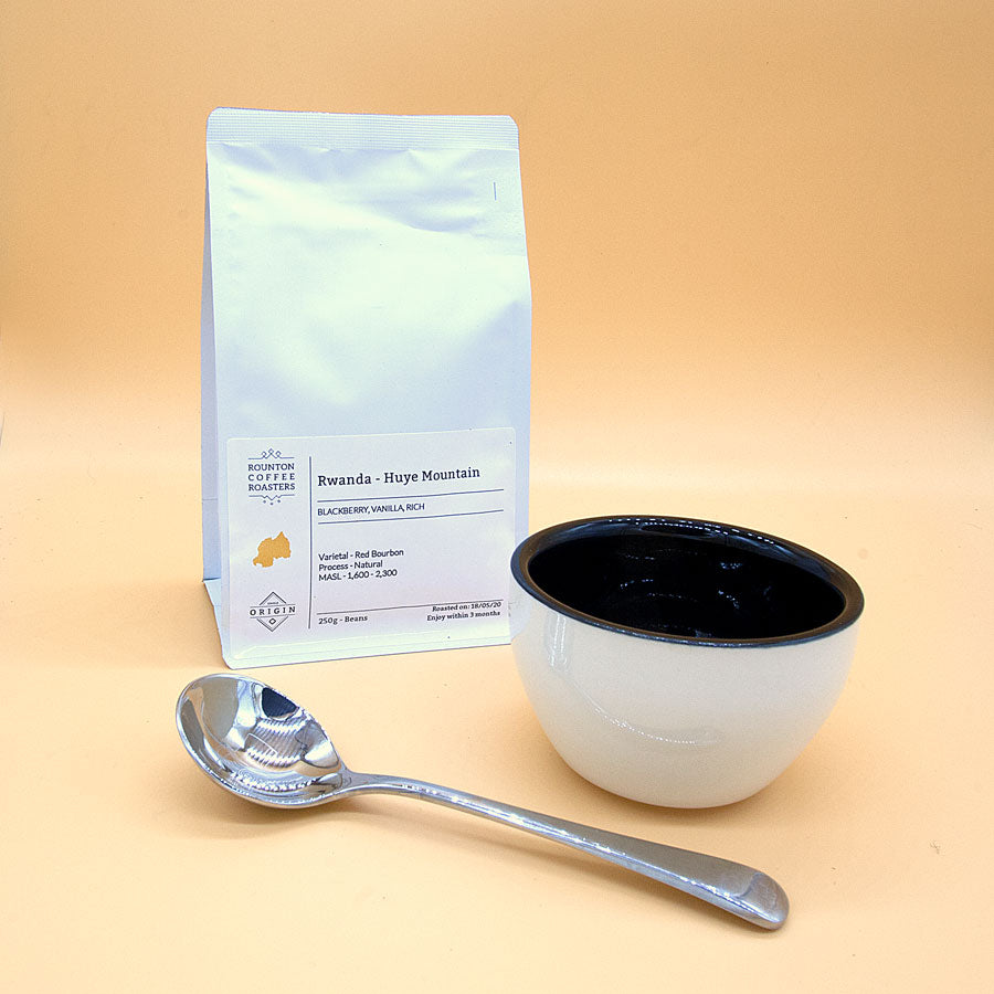 Coffee Cupping Set - Bowl, Spoon, Bag of Coffee