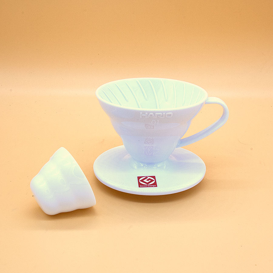 Hario V60 Dripper Coffee Maker Size 01 White Plastic