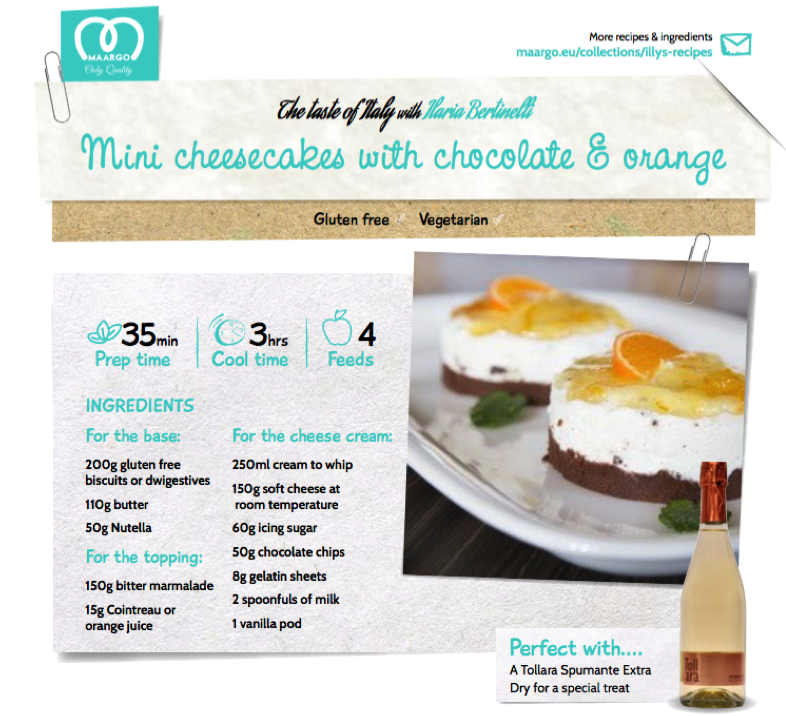 Mini cheesecake with chocolate & orange – MAARGO'