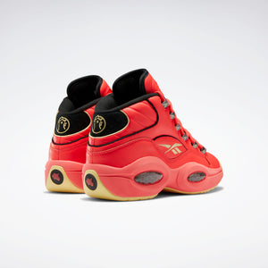 Reebok Hot Ones Question Mid - Red / Black / Yellow Filament
