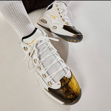 Load image into Gallery viewer, Reebok Question Mid - White / Black / Gold
