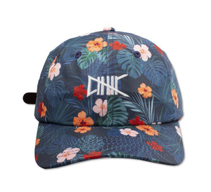 bluehat with red green pink floral print