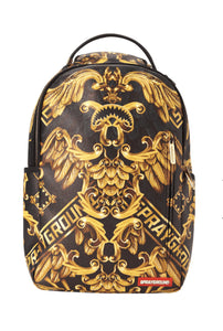 Vegan leather black with gold graphics