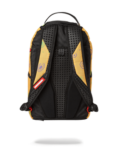 back view: shows straps with yellow graphics