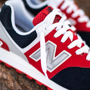 New Balance 574 - Red / Navy