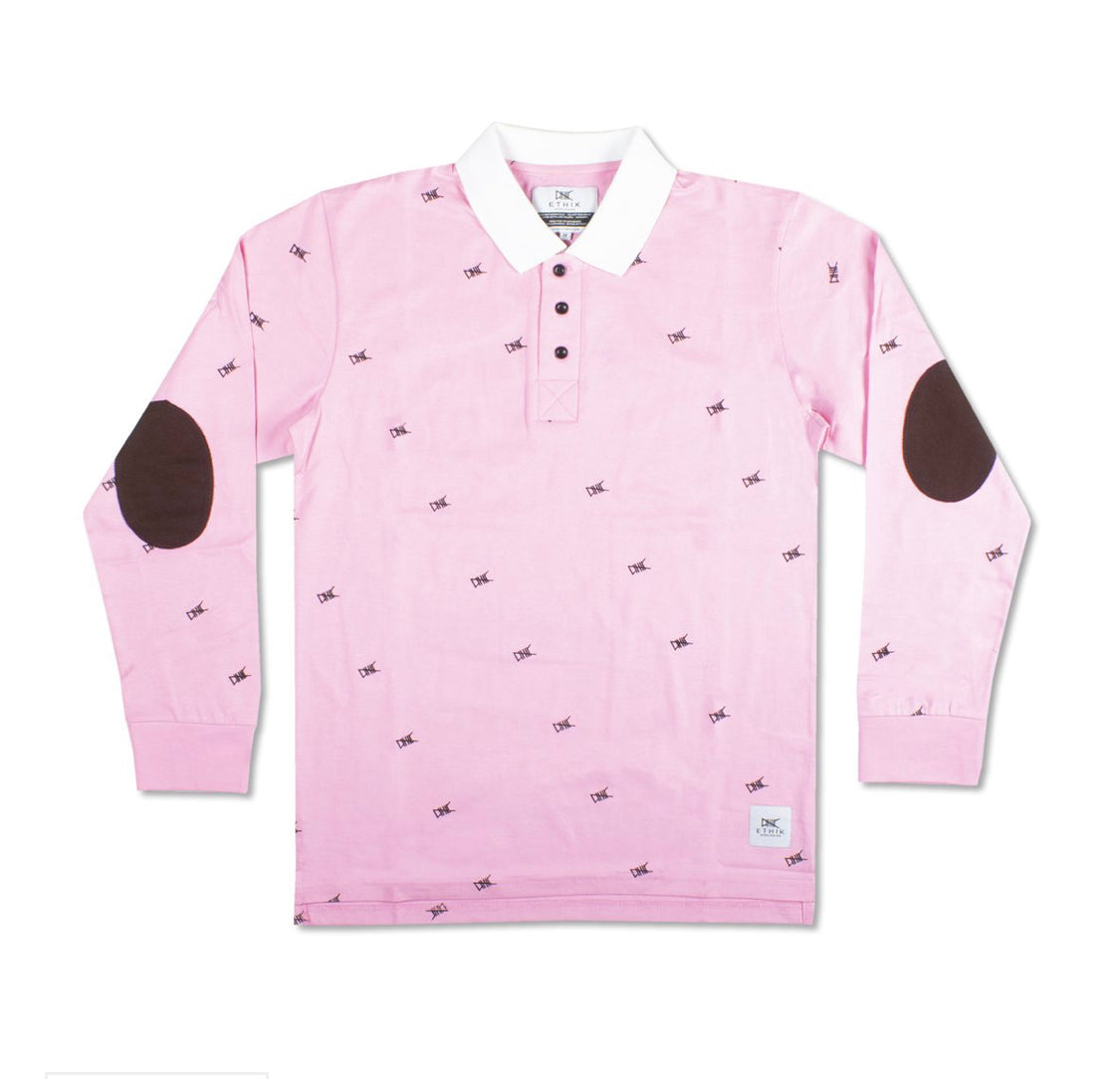 Long Sleeve Polo - Pink