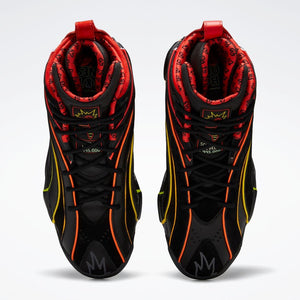 Reebok Shaqnosis x Hot Ones - Black / True Grey / Canton Red