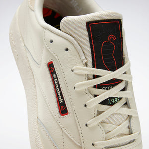 Reebok Club C x Hot Ones - Classic White / Paper White / Sandtrap
