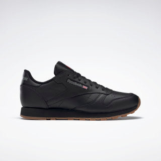 Reebok Classic Leather - Black / Peanut Butter Sole