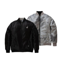 Load image into Gallery viewer, Staple Reversible Bomber Jacket - Black / Grey