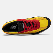 Load image into Gallery viewer, Premium suede color blocked. Black, yellow , red