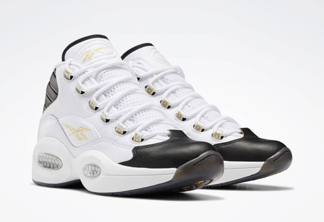 Reebok Question Mid - White / Black / Gold