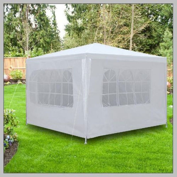 Outdoor 10'x10' Canopy Party Wedding Tent Heavy duty Gazebo Pavilion Cater Events(Type:Three Sidewall/no Sidewall)