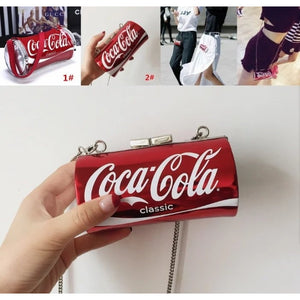Hot! 2 Models Coca-Cola Small Bag Cute Cartoon Printed Shoulder Messenger Bag NEW HOT