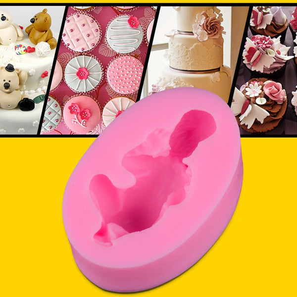 Sleeping Baby Silicone Fondant Mold Cake Decoration Tools Chocolate Mould