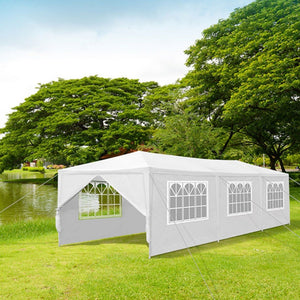 10'x10'(3Mx3M) ,10'x20'(3Mx6M) ,10'x30'(3Mx9M)  Party Wedding Outdoor Patio Tent Canopy Heavy duty Gazebo Pavilion Event White