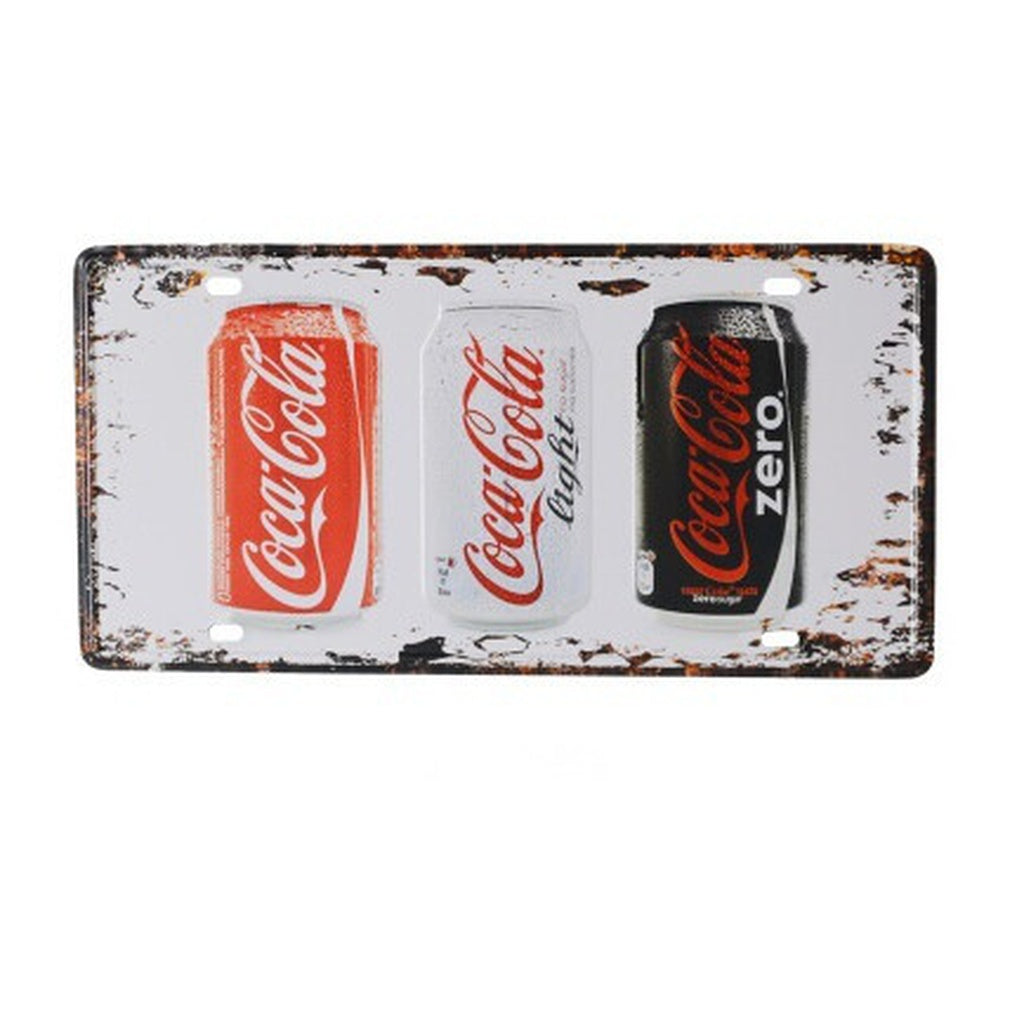 Metal Sign Coca cola Bottle Painting Metal Framed Wall Art Bar Pub Wall Decor License Plate Plaque Sign