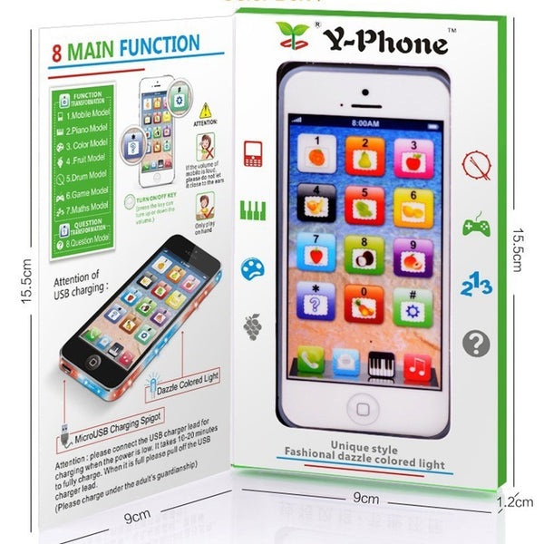 Y-phone Kids Child Phone Toy Phone Baby Educational Toys Studies