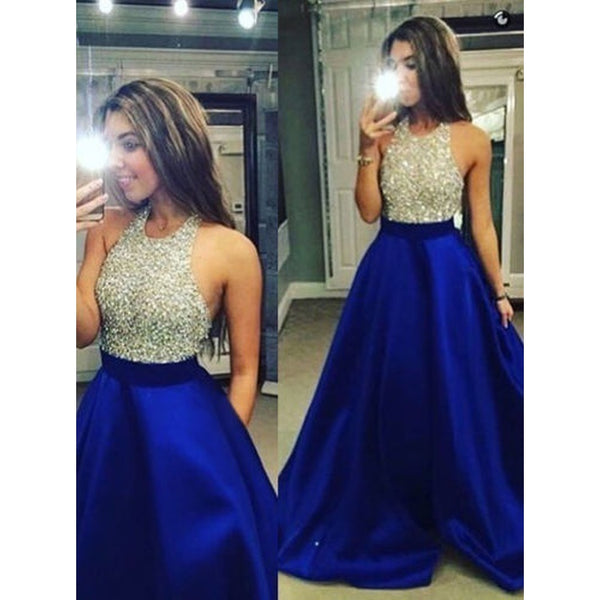 Women Sequin Sleeveless Formal Wedding Bridesmaid Long Evening Party Ball Prom Gown Cocktail Dress