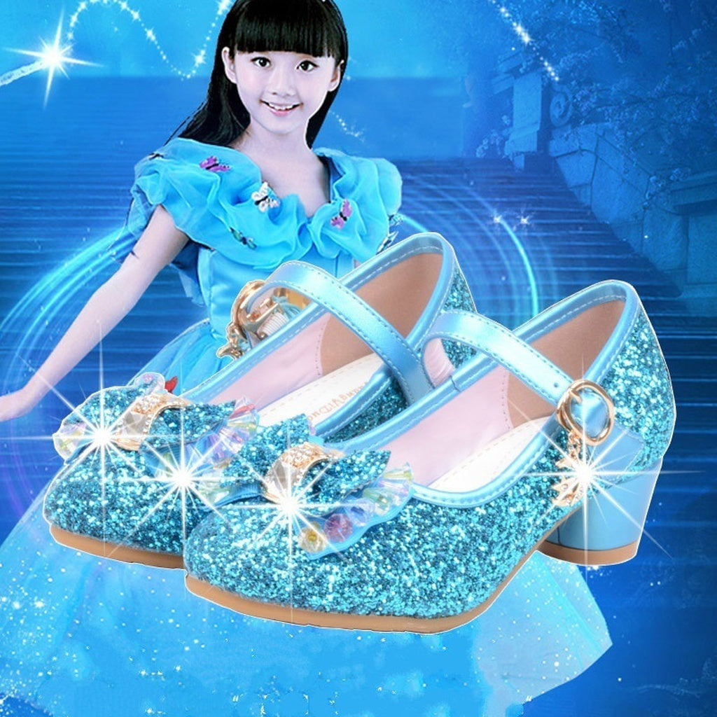 Princess Shoes Kids Girls High Heels Dress Shoes Christmas Gifts for Girls