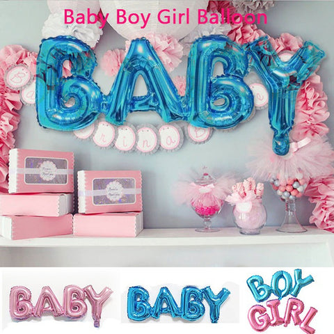 Baby Girl Boy Foil Balloon Baby Shower Christening Gender Reveal Party Ballons Kids Birthday Ballon Inflatable Connection Letter