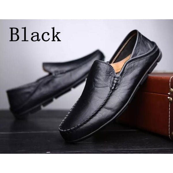100% Brand New! Men's Fashion  Leather Flats Casual Driving Shoes Loafers Men Slip on Shoes(Size  EU 38-47)