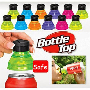 3/6Pcs Cans Opener Can Bottle Caps for Cool Fizz Coke Drink Lid Cap Reuse Tops Snap on Pop Soda