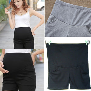 Fashion Summer Maternity Leggings Pregnant Adjustable Five Pants Made of High Quality Cotton-N5