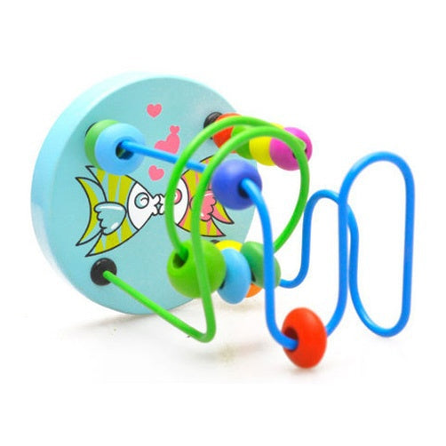 Baby Colorful Wooden Mini Around Beads Educational Toy - Hoot & Nanny
