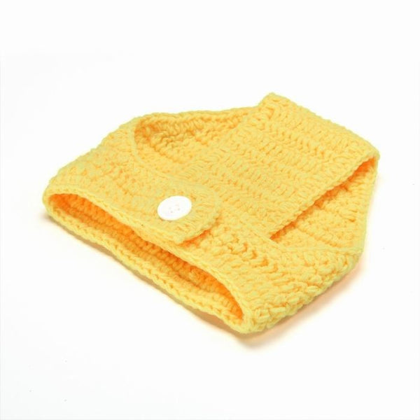 1set Unisex Cute Baby Infant Boys and Girls Chicken style Hat shorts Shoes Costume Newborn  0-12Months clothing Hand-knitted Bab