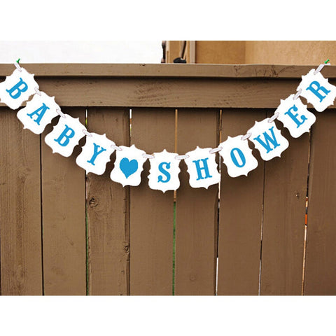 Baby Shower/It's a Boy Baby Shower Banner Party Bunting Garland Photo Prop Hanging Sign