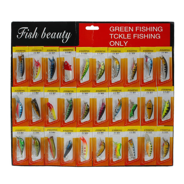 30pcs Assorted Super Long Short/Sink rapidly Fishing Lures