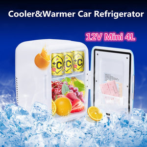 12v Mini Car Freezer/Cooler/Warmer 4L Electric Fridge Portable