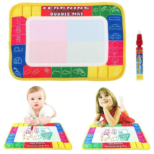 Girl Toy Drawing Water Pen Painting Magic Doodle Aquadoodle Mat Board Kid Boy (Size: 29cm x 19cm, Color: Multicolor)