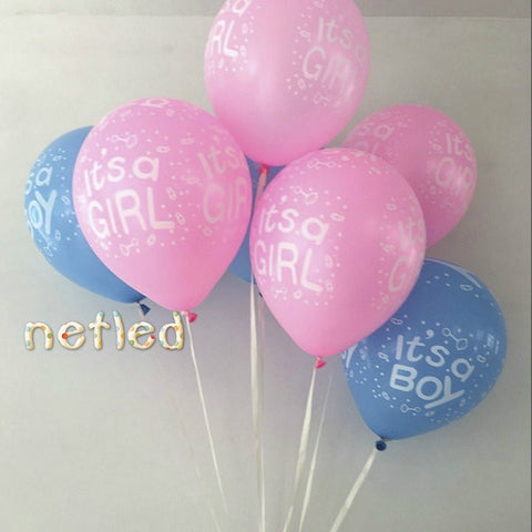 10pcs/set 12inch It's a Boy/Girl Balloons