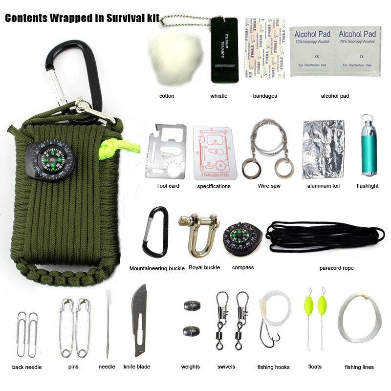 Great Outdoor Emergency First Aid kit Outdoor Travel Climbing Climbing First Aid kit Life Saving Package