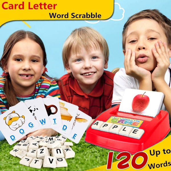 Early childhood educational aids for children toys fun learning English spell the word