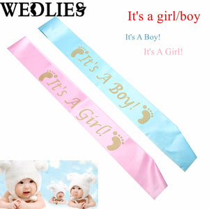 'It's A Boy/Girl' Baby Shower Satin Sash