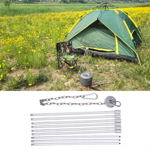 Ultra-light Need to Be Installed Tripod Camping Outdoor Cooking Campfire Picnic Pot Cast Iron Fire Grill Oven
