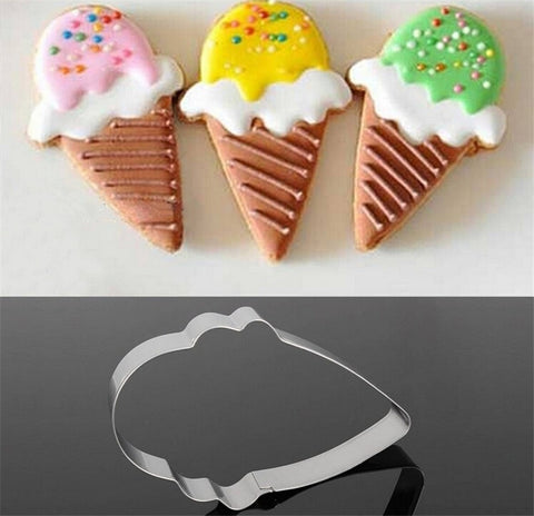 Stainless Steel Ice Cream Cone Cookie Cutter