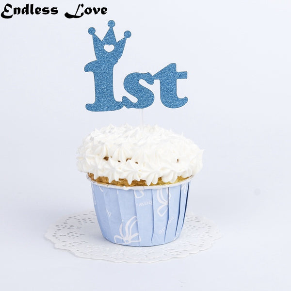 10PCS/Set 1st Birthday Cupcake Toppers