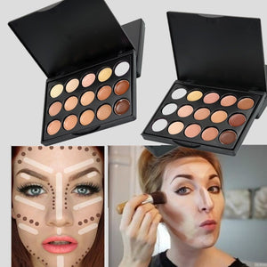 15 Colors Face Cream Professional Waterproof Cream Makeup Contour Concealer Palette
