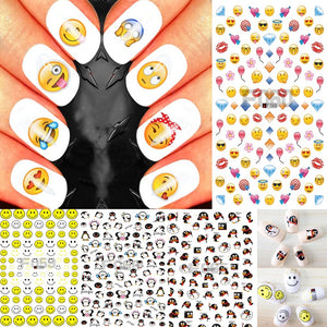Cartoon/Emoji/Smiley Nail Art Sticker Decals Water Transfer Manicure Sticker Lovely penguin Nail Stickers