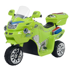 Ride on Toy, 3 Wheel Motorcycle Trike for Kids Battery Powered Ride on Toys for Boys and Girls, 2 - 3.5 Year Old - Green FX