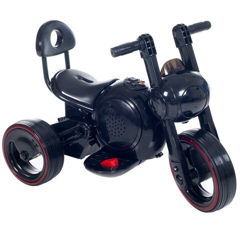 Ride on Toy, 3 Wheel LED Mini Motorcycle Trike for Kids Battery Powered Toys for Boys and Girls, Toddler - 4 Year Old - Black
