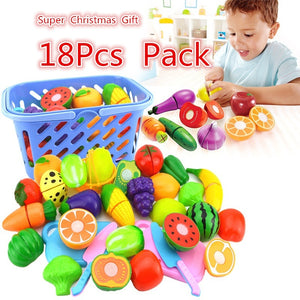 Intelligence Kids Toy Simulation Of Fruit Desperately Cut Fruits Toy Children Kitchen Playsets